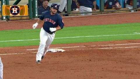MIL@HOU: White ties the game at 1 with solo home run