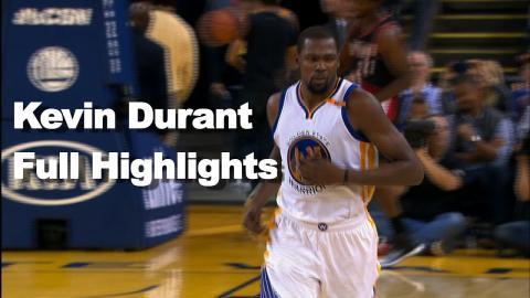 Kevin Durant Full Highlights vs Portland