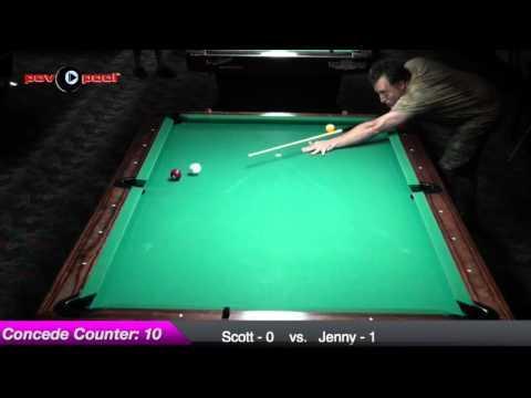 Scott White vs Jenny Lee - #7 - HTB 9-Ball / June - 2015