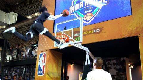 Basketball & Futbol Collide at NBA House Rio
