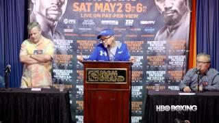 Mayweather/Pacquiao Trainer Press Conference: HBO Boxing News