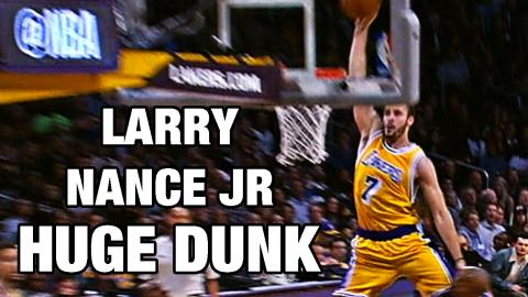 Larry Nance Jr HUGE Dunk Down The Lane Against Golden State!