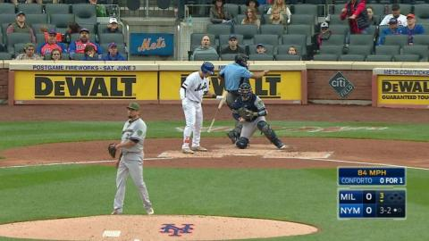 MIL@NYM: Garza strikes out Conforto looking