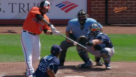 TB@BAL: Alvarez adds to lead with a two-run single