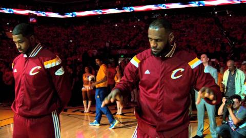LeBron James Pays Tribute to Kyrie Irving Pregame