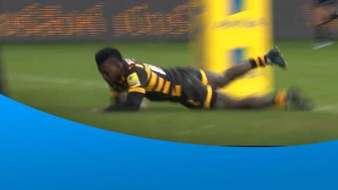 Christian Wade breaks his try drought in style