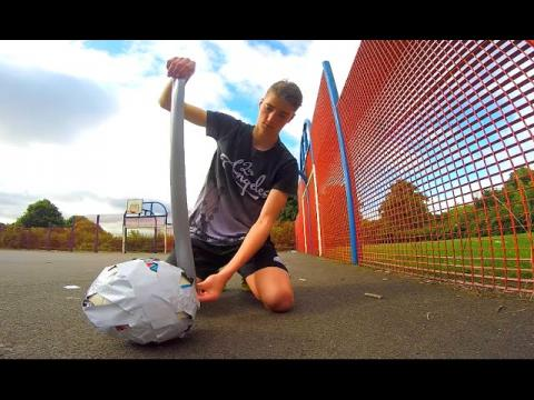 DUCT TAPING MY FOOTBALL (Crazy First Touch!!)