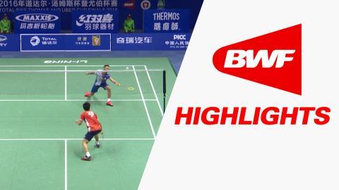 TOTAL BWF Thomas & Uber Cup Finals 2016 | Badminton-Day4/S3-Thomas Cup Grp A CHI vs JAP– Highlights