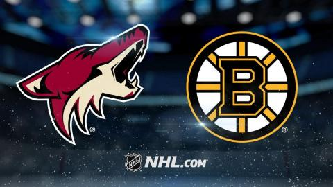 Backes scores twice as Bruins top Coyotes, 6-1