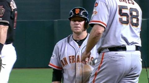 SF@ARI: Peavy singles for his first hit since 2013