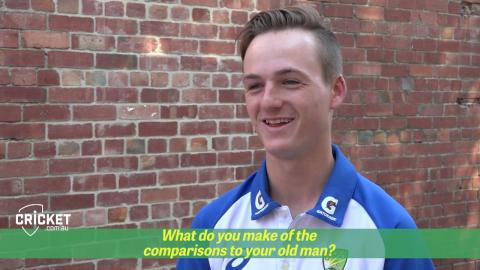 Austin Waugh on comparisons to his dad
