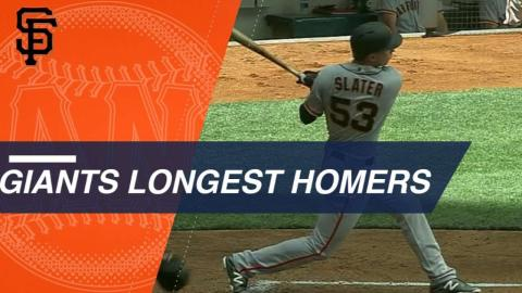 Statcast: Giants' longest homers