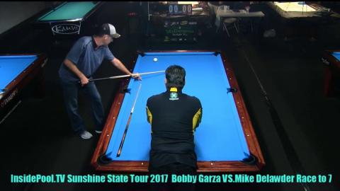 Mike Delwader VS  Bobby Garza 2018 Sunshine State Tour at Park Ave  Billiards, FL