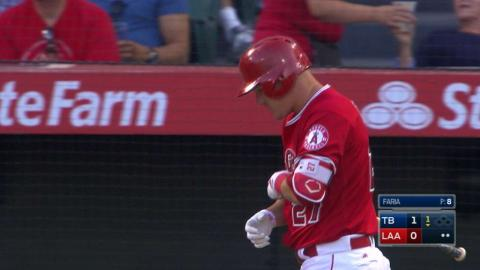 TB@LAA: Trout returns from DL and gets a nice ovation