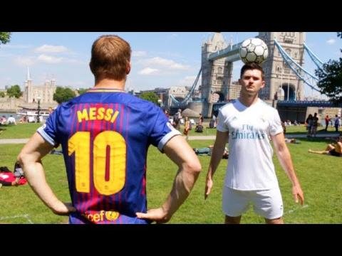 MESSI vs. RONALDO - Public Freestyle Battle!