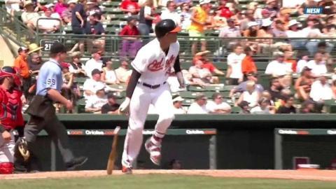 BOS@BAL: Machado lines two-run homer to left field