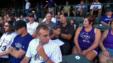 LAD@COL: Murphy singles in front of his family