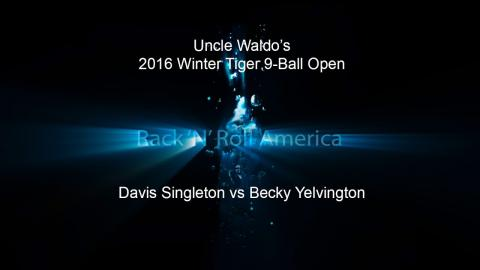 2016 Tiger Tour Winter 9 Ball Open David Singleton vs Becky Yelvington