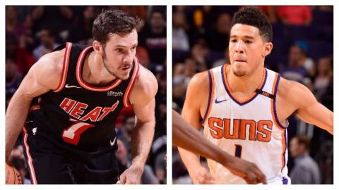 Goran Dragic (29 Points) and Devin Booker (30 Points) Lead Their Teams in Phoenix | November 8, 2017