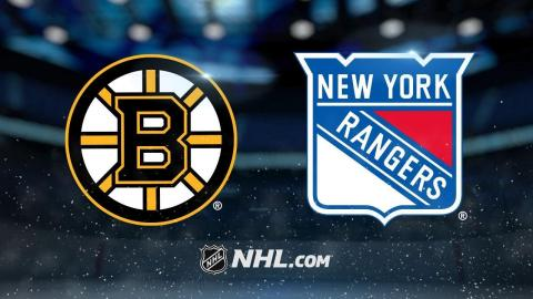 Bergeron scores two as Bruins roll past Rangers, 6-1