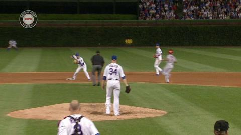 STL@CHC: Cubs turn a nice around-the-horn double play