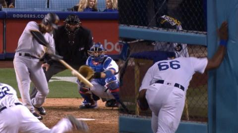 PIT@LAD: Jaso homers just past Puig's glove for lead
