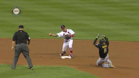 PIT@STL: Cardinals turn around-the-horn double play