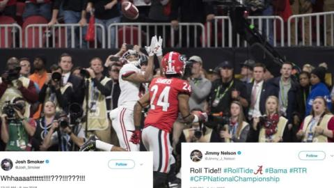 Ballplayers react to college football title game