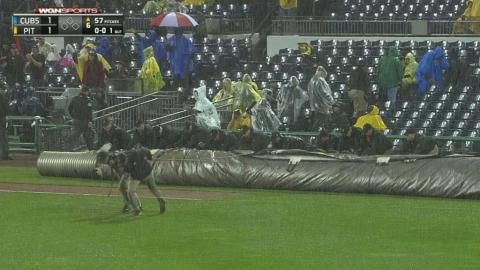 CHC@PIT: Rain delays force rare MLB tie game