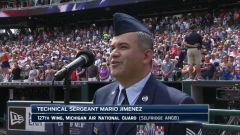 TOR@DET: Sgt. Jimenez sings God Bless America
