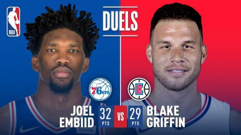 Joel Embiid and Blake Griffin Duel in L.A. | November 13, 2017
