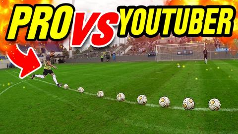 CROSSBAR FOOTBALL CHALLENGE • PRO vs YOUTUBER