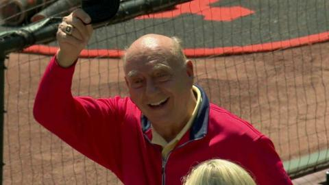 SD@SF: Giants' broadcasters host Dick Vitale