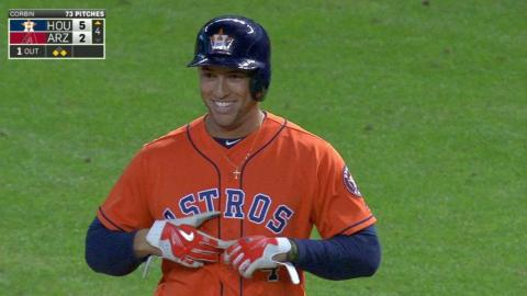 HOU@ARI: Springer hits an RBI single into center