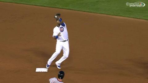 WSH@CHC: Cubs turn a 4-6-3 double play