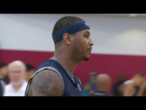 Carmelo Anthony Wired at Training Camp