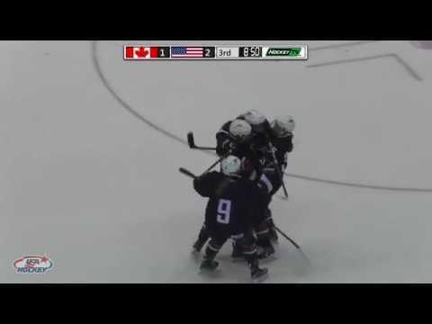 2017 U18 Series   Game Three Highlights: USA 3, Canada 1
