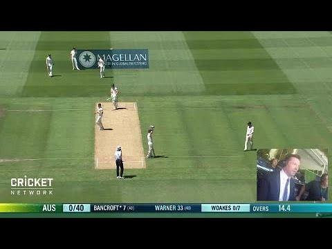 Hugh Jackman does the Ashes ball-by-ball call