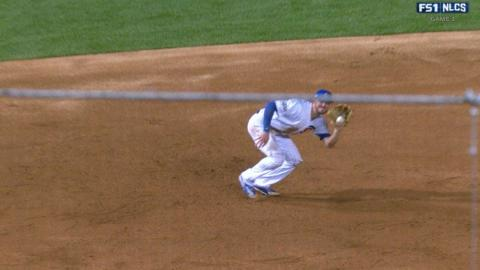 NLCS Gm1: Bryant grabs Ruiz's sharp line drive