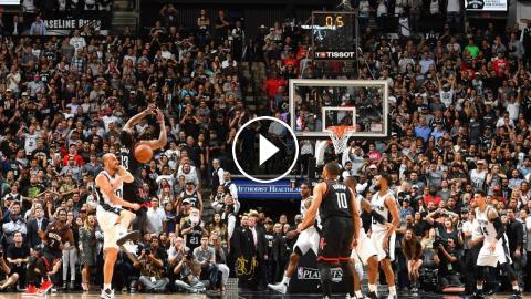 7905c7b856ab San Antonio Spurs  Manu Ginobili blocks James Harden game-tying  three-pointer attempt and seals the game. The Spurs won 110-107 in overtime  and lead t.