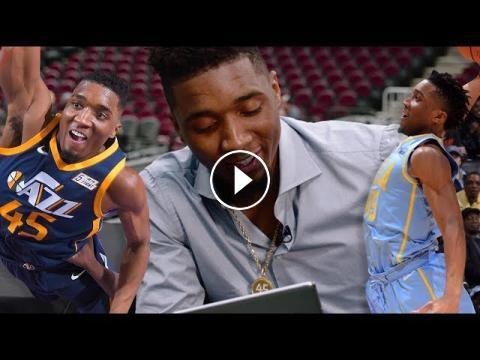 7ab9dde8288a Which of his own dunks do you think Donovan Mitchell liked best from 1st NBA  season  Check out Utah Jazz Rookie Donovan Mitchell react to his best dun.