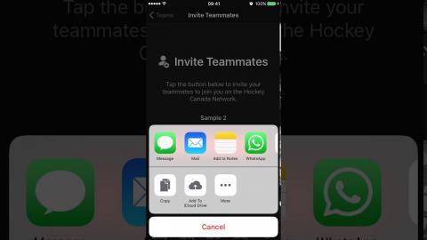 Creating a Team - iOS