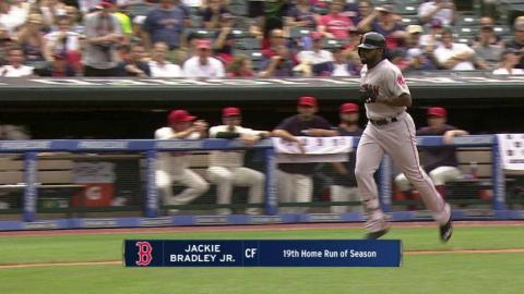 BOS@CLE: Bradley Jr. hits a solo home run