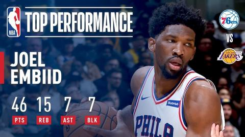 Joel Embiid Has a Monstrous Night: CAREER-HIGH 46 POINTS | November 15, 2017
