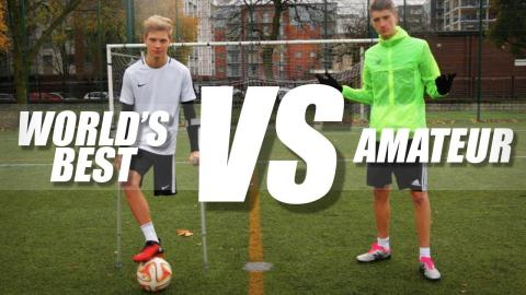(World's Best) Amputee Footballer VS Amateur Footballer!!