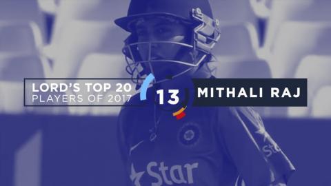 13) Mithali Raj | Lord's Top 20 Players of 2017