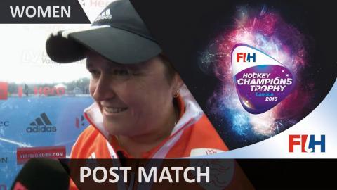 NED 6-2 NZL FT Alyson Annan post match interview #HCT2016