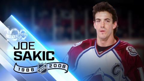 Joe Sakic captained Avalanche to two Stanley Cup wins