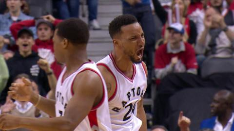 Norman Powell Ignites the Raptors with a Pair of Power Dunks | April 24, 2017