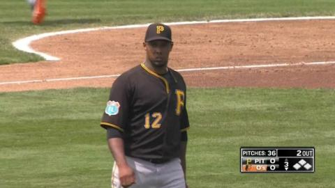 PIT@BAL: Nicasio strikes out 10 over four innings